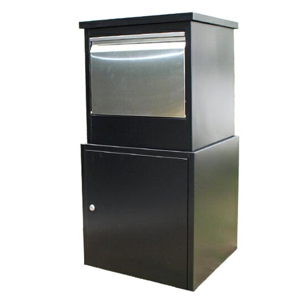 宅配ボックス 高さ85cm ダイヤル錠付 荷物受け 郵便受け メールボックス 個人 家 一戸建て 保管 不在 置き型ポスト おしゃれ ボックスJP-6115