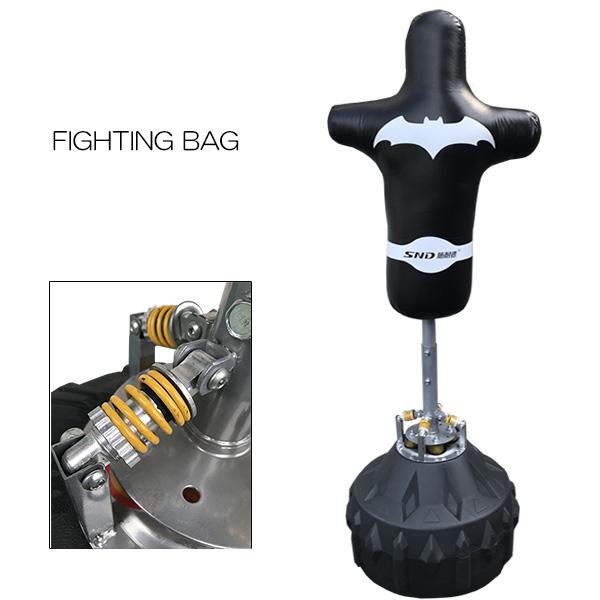 サンドバッグ 人型 吸盤付き 格闘技 ボクシング キックボクシング スパーリング パンチングサンドバッグ サンドバック ミット トレーニング器具 RXQJZ-BK