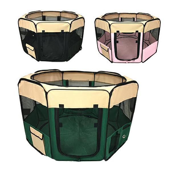 ペットサークル 折りたたみ Lサイズ 八角形 軽量 メッシュサークル ポータブル 屋内 ドックラン ペットケージ ソフトサークル ゲージ サークルWR-XL