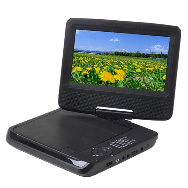 DVDプレイヤー ポータブル 7インチ CPRM対応 3電源 シガーソケット バッテリー内蔵 VRモード CD-R DVD-R USB JPEG MP3 録音 DVDプレイヤ700