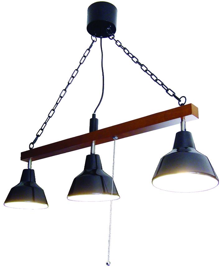 天井照明 照明 3灯ペンダント MARTTI3 マルティ3 EN-011BK プルスイッチタイプ