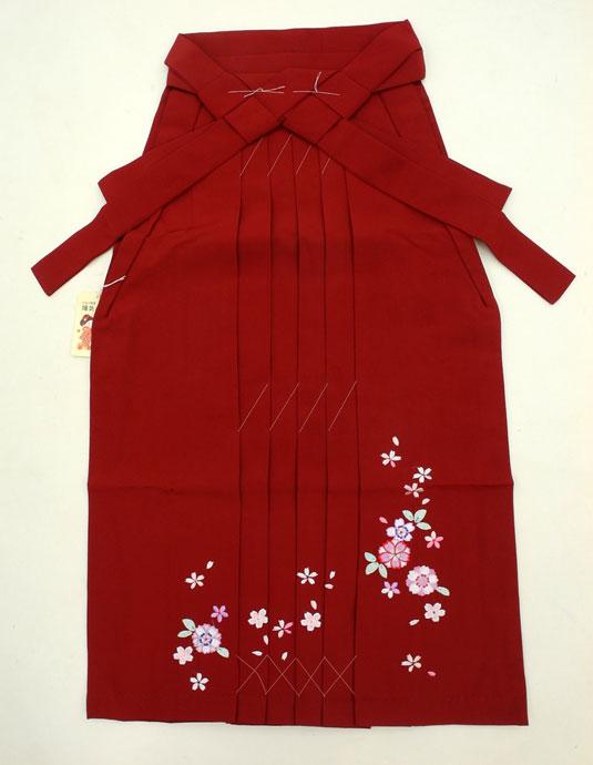 新作 七五三 13歳女の子用(85cm) 刺繍 袴◆藤◆濃赤色系7049