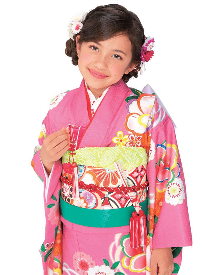 ◆ブランド キューティーデビル◆新作モデル 七五三 7歳用女の子着物フルセットCA701