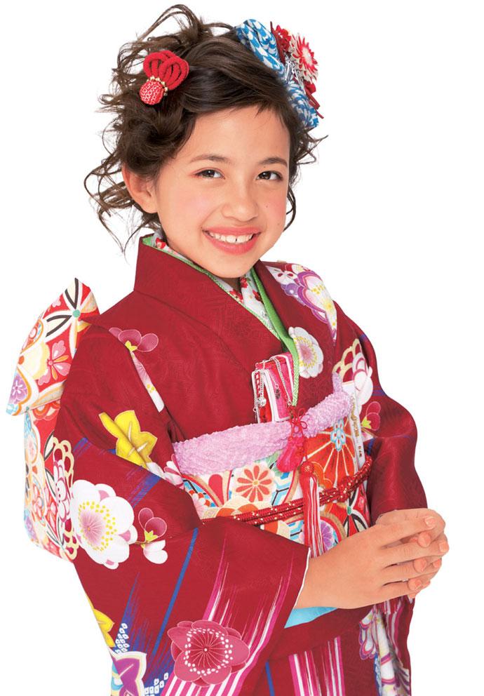 ◆ブランド キューティーデビル◆新作モデル 七五三 7歳用女の子着物フルセットCA702
