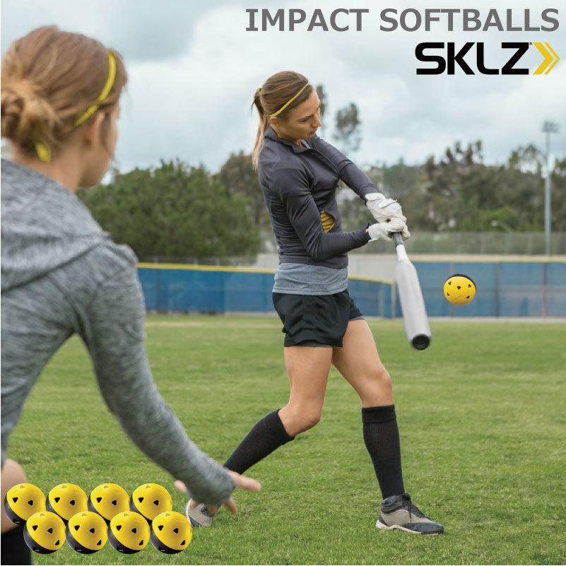 何千回ものスイングの後でも 標準的な練習用ボールのようにひびが入ることがありません ソフトボール 野球 トレーニングボール インパクトソフトボール 8個入 IMPACT SOFTBALLS SGDs 017246 チープ 打撃強化 新作 人気 バッティング強化 バッティング練習 SKLZ ベースボール 打撃練習