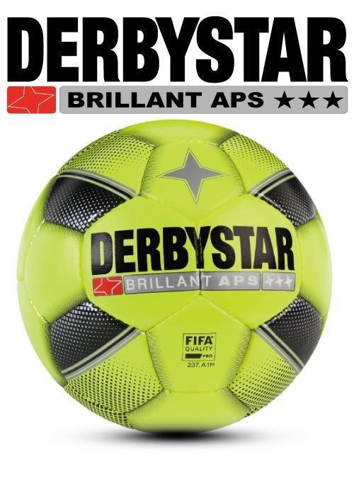 サッカー:ダービースター サッカーボール FIFA公認球 「DERBYSTAR」5号球 Brillant APS Yellow Nr.1731-05【送料無料!】