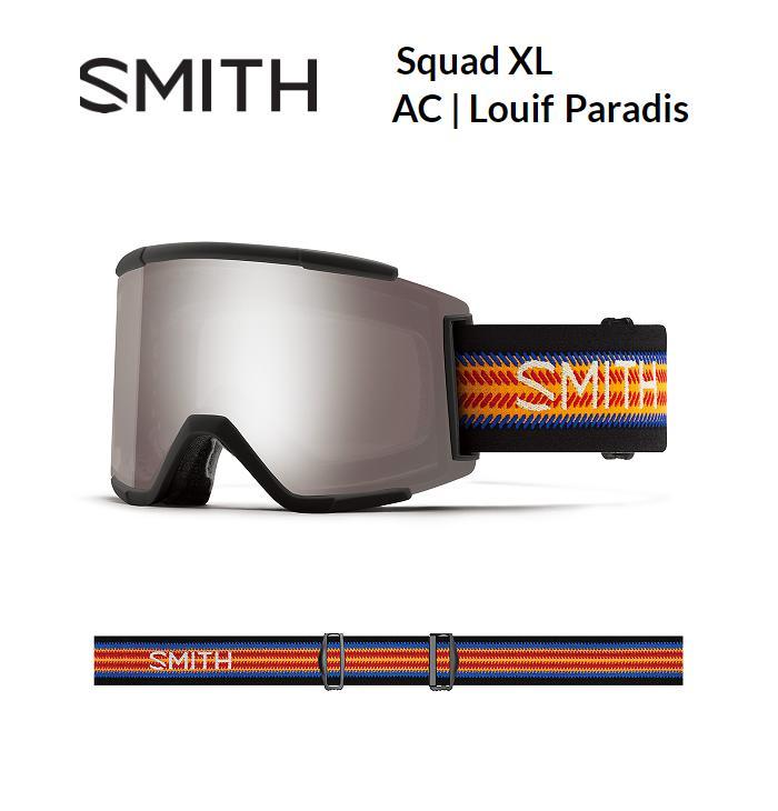スノーゴーグル:【SMITH】スミススノーゴーグル SQUAD XL LOUIF PARADIS 【限定アーリーモデル!】/スキー/スノボ/スノーボード/ゴーグル/サングラス/メット/オシャレ/カッコいい/かわいい/ファッション/パーク/フリーライド/ゲレンデ/バックカントリー/