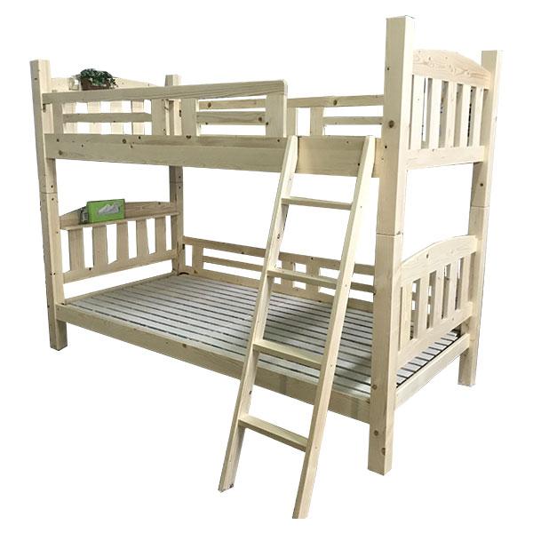 ★30日8:59までポイント10倍★【送料無料】 2段ベッド シングルベッド ベッド パイン材 耐震構造 スノコベッド 木製 ナチュラル ホワイト