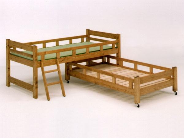 【開梱設置無料】【送料無料】 親子ベッド 2段ベッド 二段ベッド 子供 ロフトベッド すのこベッド スノコ ベッド ベット  木製 日本製 大川家具 国産 F☆☆☆☆ 自然塗装 蜜ろう仕上げ