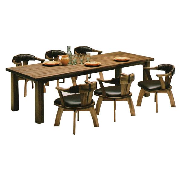【開梱設置無料】【送料無料】セットE 食卓テーブル 無垢 食卓椅子 6人掛け 木製 ダイニングセット ダイニングテーブル ダイニングチェア 国産 日本製 セミオーダー 天然木 ダイニング