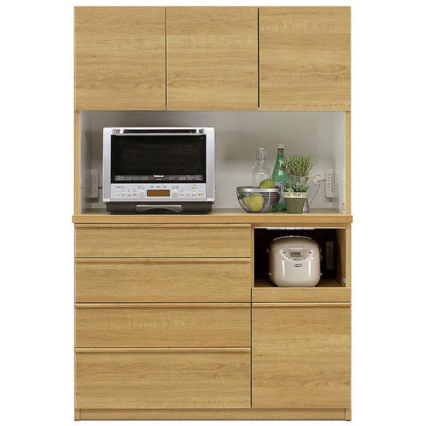 【開梱設置無料】【送料無料】120 オープンボード 120cm 食器棚 完成品 国産 キッチン収納 日本製