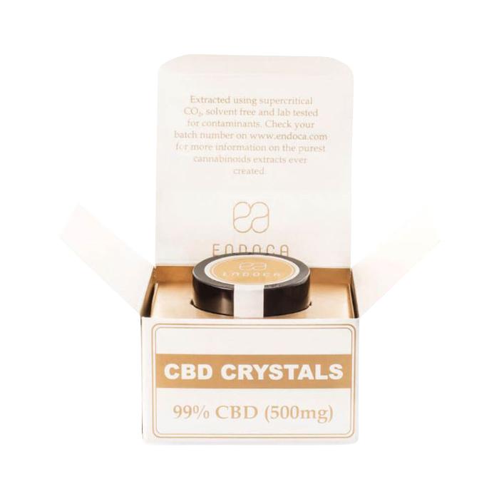 CBDアイソレート クリスタル 結晶 パウダー 超高濃度99% CBD含有量495mg/内容量0.5g エンドカ(ENDOCA)カンナビジオール ed-cbdisolate-0001