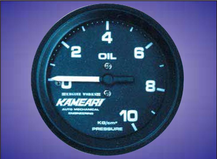 メーカー直送 代引き不可 亀有エンジンワークス 送料無料カード決済可能 KAMEARI RACING 油圧計 ブランド品 ブラック 52φ 機械式メーター METER