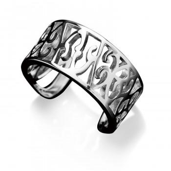 両端が開いた仕様 軽く広げたり閉じたりして 開き具合を微調整できます むくみやすい指 サイズが分かりにくい指などに シルバー サイズを選ばない 簡単にサイズ調整できる指輪 海外並行輸入正規品 ブランド品 透かし柄リング