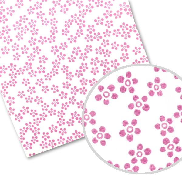 トラスト てぬぐい 有名な 小紋柄 梅小花 ほつれない加工済 ピンク