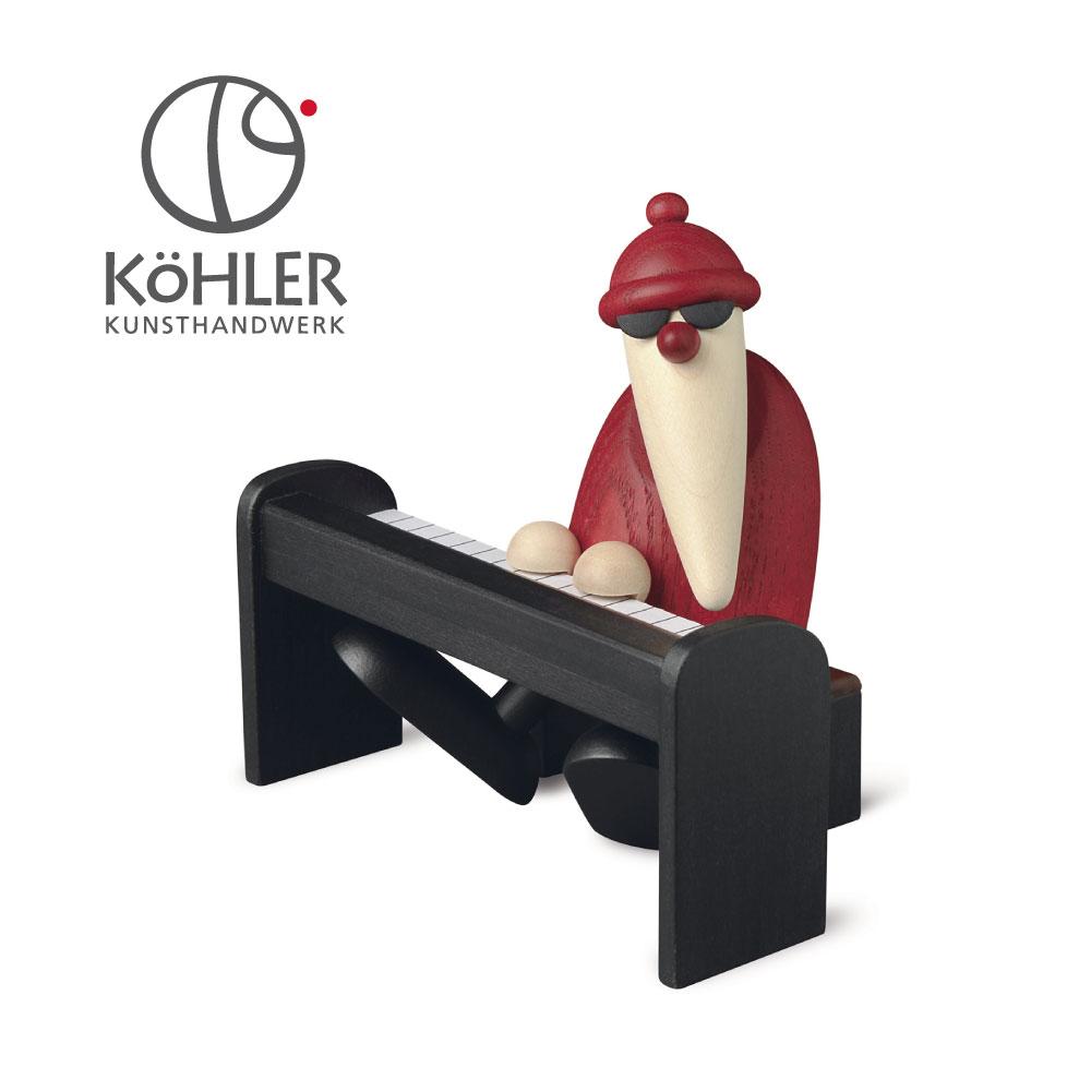 [全品ポイント10倍] 2020年9月11日(金)20:00-9月15日(火) 23:59 ドイツ製 木製 クリスマスツリー オーナメント サンタ 北欧 おしゃれ ピアノサンタ
