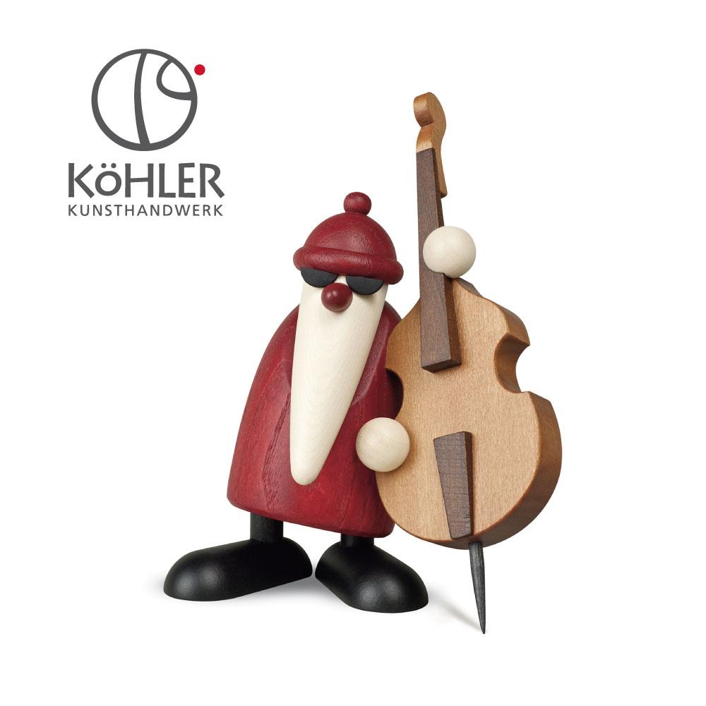 [全品ポイント10倍] 2020年9月11日(金)20:00-9月15日(火) 23:59 ドイツ製 木製 クリスマスツリー オーナメント サンタ 北欧 おしゃれ ヴァイオリンサンタ