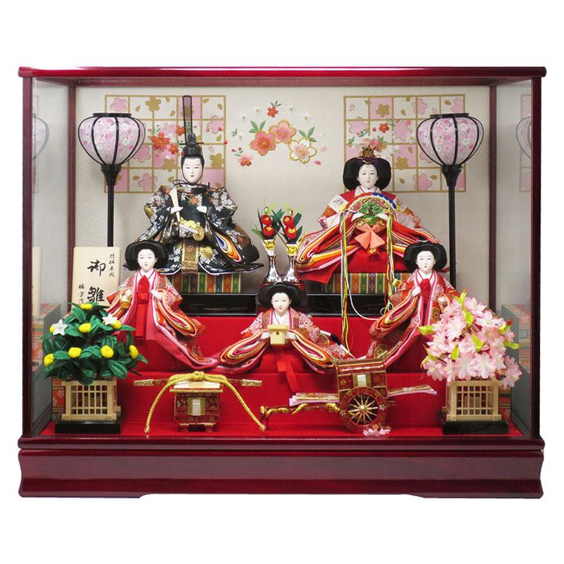 名前旗プレゼント企画開催中 雛人形 コンパクト ケース飾り おしゃれ