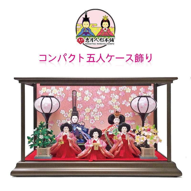 雛人形 ひな人形 数量限定コンパクト五人ケース飾り