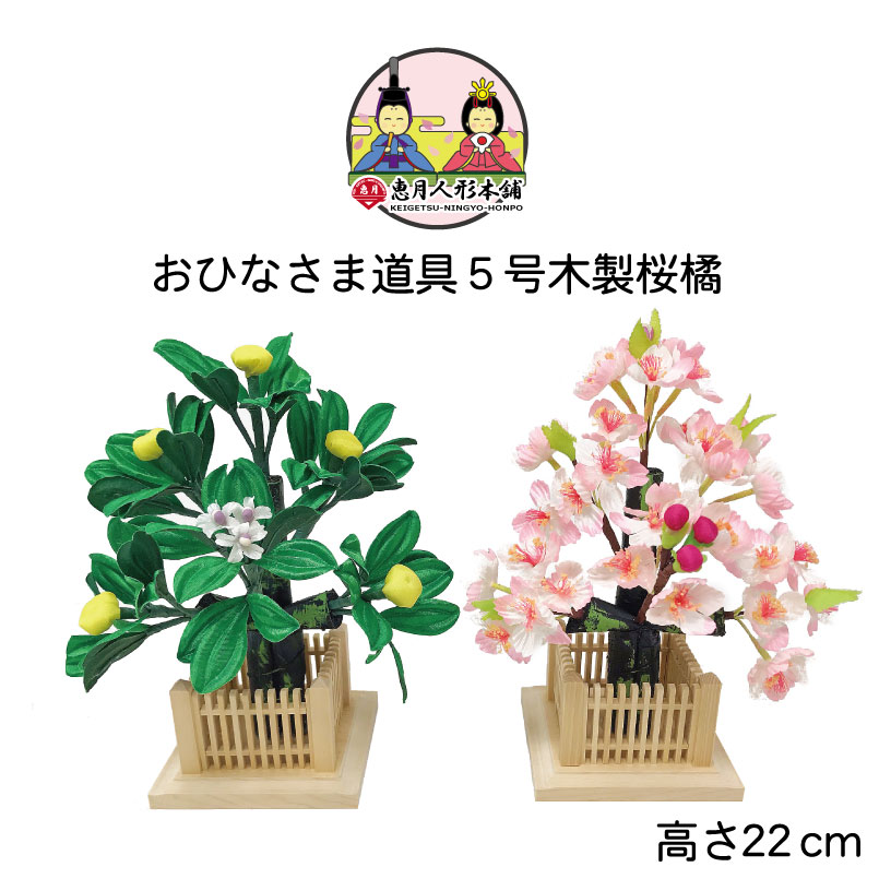 雛人形 ひな人形 木製桜橘5号
