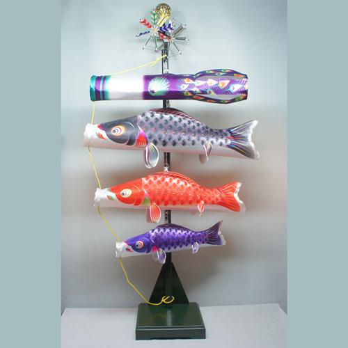 こいのぼり 鯉のぼり徳永鯉 ベランダ用 室内飾り星歌友禅セット【名入れor家紋入れ無料】