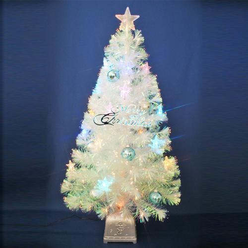 【全品ポイント9倍】クリスマスツリー 北欧 おしゃれ 120cmチェンジングパールファイバーツリーセット(チェンジングスターLED付き) オーナメント セット LED