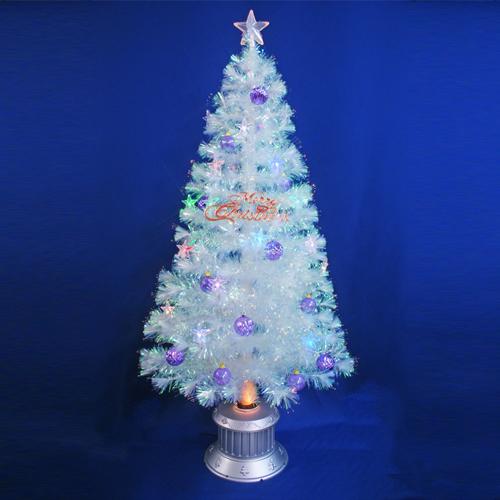 クリスマスツリー 北欧 おしゃれ 150cmチェンジングパールファイバーツリーセット(チェンジングスターLED付き) オーナメント セット LED