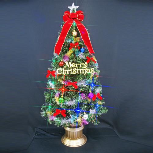 クリスマスツリー 北欧 おしゃれ ファイバーツリーセット150cm オーナメント セット LED