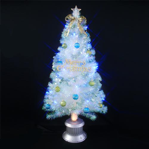 【全品ポイント9倍】クリスマスツリー 北欧 おしゃれ クリスタルファイバーツリーセット150cm オーナメント セット LED
