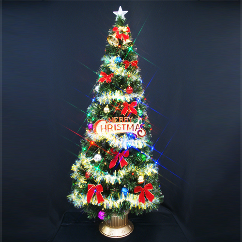 【只今ポイント最低14倍】クリスマスツリー ファイバーツリー180cm おしゃれ セット11(マルチLED48球付き)