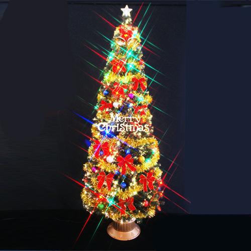 クリスマスツリー 北欧 おしゃれ ファイバーツリー240cm セット(マルチLED72球付)11 オーナメント セット LED 2m 3m 大型 業務用