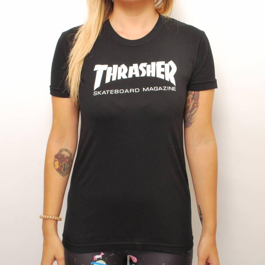 Thrasher Magazine Lady s T-shirt slasher Girls Skate Mag T-Shirt skateboard  SKATE SK8 skateboarding HARD CORE PUNK hard-core punk HIPHOP hip-hop SURF  サーフ ... 0504e2639
