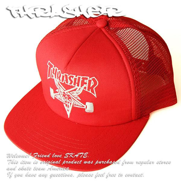 60a2a718d8e THRASHER MAGZINE cap mesh cap hat slasher Skategoat Mesh Cap Embroidered  Red skateboard SKATE SK8 skateboarding HARD CORE PUNK hard-core punk HIPHOP  hip-hop ...