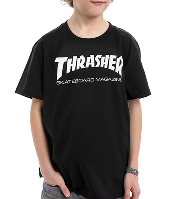 33d71f4ec961 Thrasher Magazine (US plan) slasher child kids T-shirt use Youth Skate Mag  ...