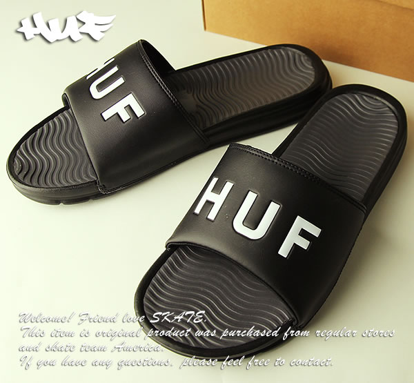 64cd48439e5f Huf sandals slippers Hough Slide 9-10 size Black skateboard SKATE SK8  skateboarding HARD CORE PUNK hard-core punk HIPHOP hip-hop SURF surf reggae  reggae ...