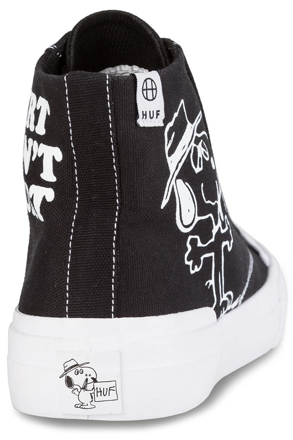 898d412fb2 Huf x Peanuts higher frequency elimination sneakers shoes Hough Snoopy  Snoopy Classic Hi Peanuts Shoe Black skateboard SK8 skateboarding HARD CORE  PUNK ...