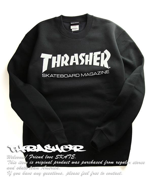74da2b1ee4d2 THRASHER Magazine trainer sweat shirt long sleeves slasher magazine Skate  Mag Logo Crew Neck Sweatshirt Black skateboard SKATE SK8 skateboarding HARD  CORE ...