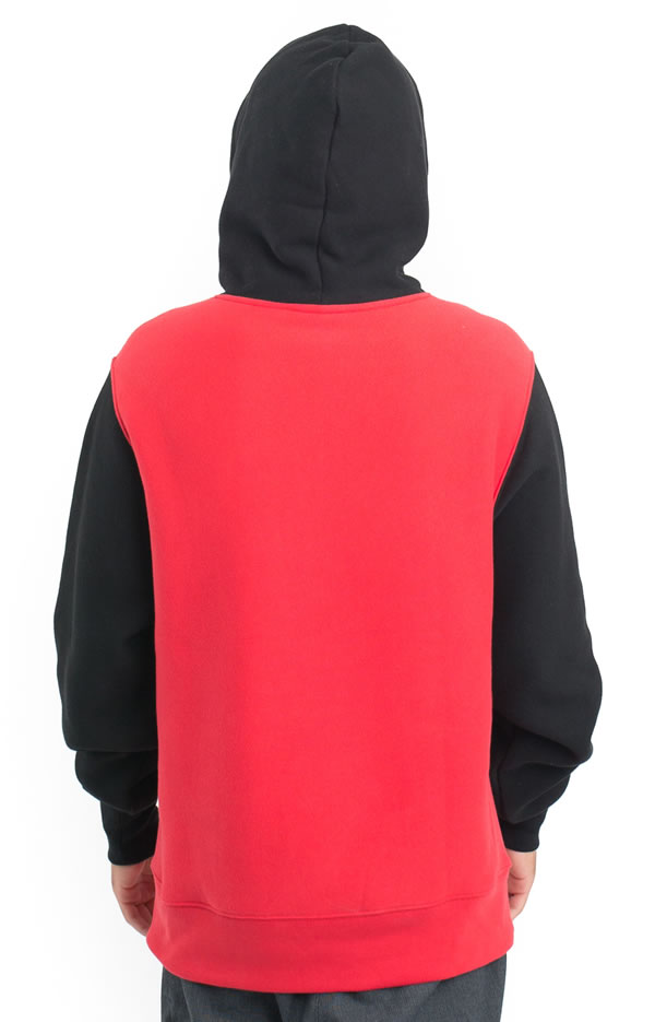 046cf5994c0b Champion LIFE (US plan) parka pullover champion Reverse Weave Colorblock  Pullover Hoodie Red Scarlet Black skateboard SK8 skateboarding HARD CORE  PUNK ...