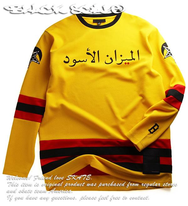 BLACK SCALE(ブラックスケール)ホッケージャージー Hockey Jersey Yellow スケボー SKATE SK8 スケートボード HARD CORE PUNK パンク HIPHOP ヒップホップ SURF サーフ レゲエ reggae スノボー スノーボード Snowboard NINJA X