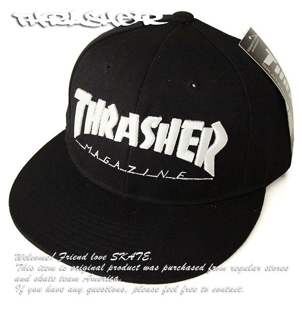Thrasher Magazine (slasher) cap hat snapback hat Mag Logo Snap-Back Hat  Black skateboard SK8 skateboarding HARD CORE PUNK hard-core punk HIPHOP  hip-hop SURF ... 36df398de69