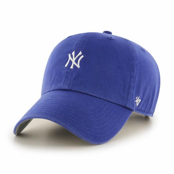 b3dd69872871c  47 Brand (forty seven) baseball cap hat キャップダッドハットワンポイント Yankees Base  Runner  47 CLEAN UP Royal Blue MLB Yankees Major League.