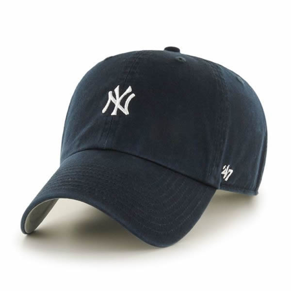 ac4fd0c55d7d3  47 Brand (forty seven) baseball cap hat キャップダッドハットワンポイント Yankees Base  Runner  47 CLEAN UP Navy MLB Yankees Major League.