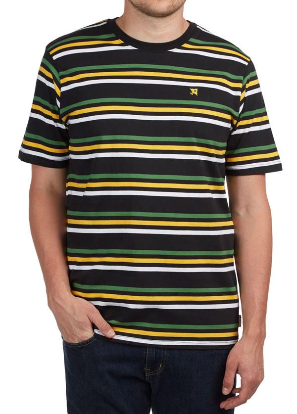 LRG(エルアールジー)Tシャツ Irie T-Shirt Black/ボーダー Rasta スケボー SKATE SK8 スケートボード PUNK パンク HIPHOP ヒップホップ SURF サーフ スノボー スノーボード Snowboard NINJA X