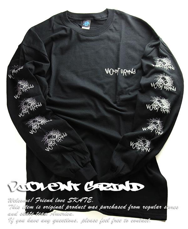 285dfc2d6 VIOLENT GRIND (I grind bioLent) long T-shirt Ron T long sleeves Long ...
