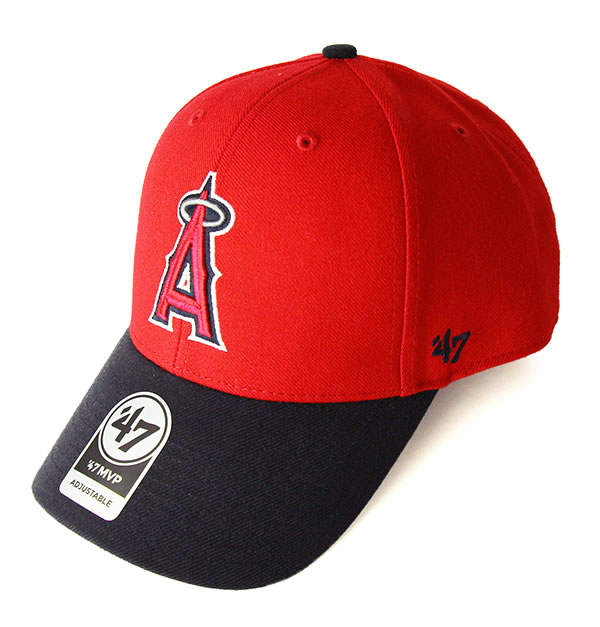 f872375cf08  47 (forty seven) Forty Seven Brand low cap hat ダッドハット Angels  47 MVP Red Navy  MLB Major League baseball Shohei Otani Los Angeles Angels.