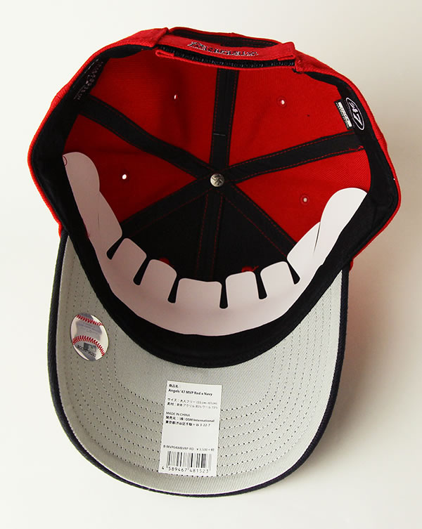 sale retailer 57c83 c2628 ... authentic 47 forty seven forty seven brand low cap hat angels 47 mvp  red navy mlb