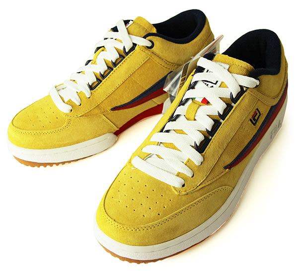 FILA (Fila) sneakers shoes T 1 MID Yellow suede cloth tennis skateboard SKATE SK8 skateboarding PUNK flat HIPHOP hip hop SURF サーフスノボースノーボード Snowboard