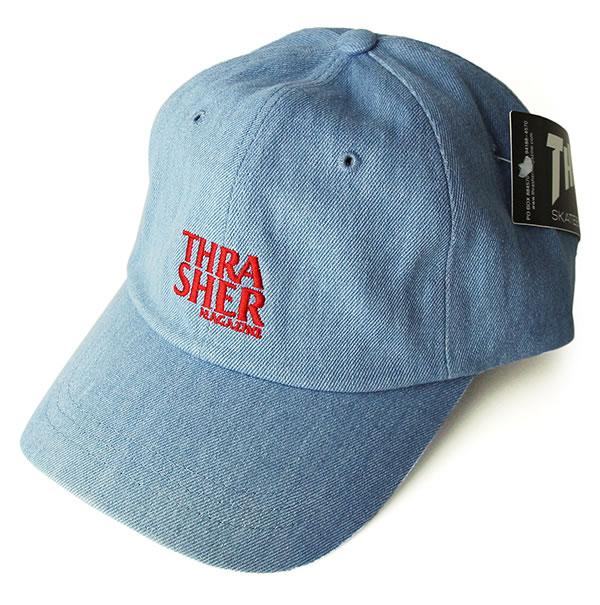 Thrasher Magazine デニムキャップダッドハット hat slasher Anti Logo Cap Dad Hats Light  Denim baseball skateboard SK8 skateboarding HARD CORE PUNK hard-core ... 9d0cd262f961