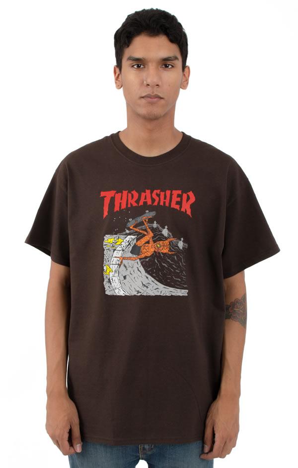 a562cbbc32b2 Thrasher Magazine (slasher magazine) US plan T-shirt Neckface Invert T-Shirt  ...