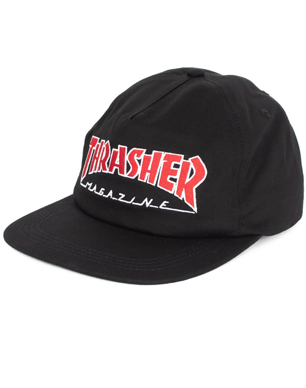 583e0d3a739 Thrasher Magazine (slasher magazine) US plan cap snapback hat hat Outline  Snap-Back Hat Black skateboard SK8 skateboarding HARD CORE PUNK hard-core  punk ...